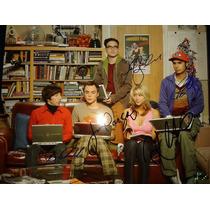 Fotografia Firmada The Big Bang Theory Reparto Original