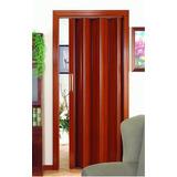 Puerta Plegable De Pvc Color Caoba (oficina Y Baños)
