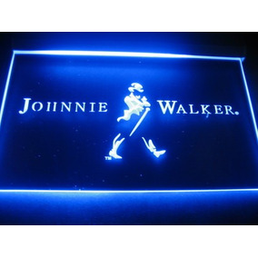 Cartel Johnnie Walker Luminoso Led Acrilico Colgable A 220w