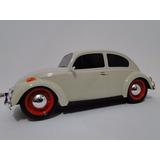 Volkswagen Fusca Bala Branco Lotus Brinquedo Pneu Borracha