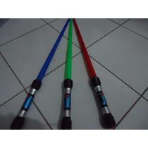 Kit 2 Espada Sabre Star Wars+pilhas Espacial Com Luz E Som