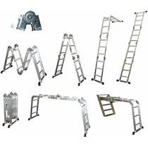 Escalera Plegable Aluminio Con Placas Multifuncional 3.85mts