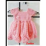 Vestidito Hermoso Crochet Bebe.vestido Bebe Artesanal Tejido