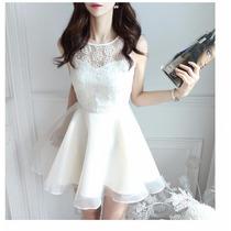 Vestido Rodado Formatura #18 Branco Festa Casamento N. Longo