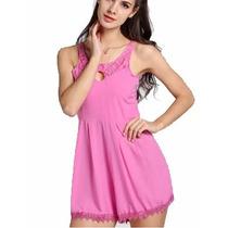 Fantastico Vestido Jumpsuit Colorido Temporada Verano
