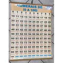 Painel Banner Alfabetização Números - 1,05 X 0,90 Cm