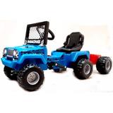 Jeep A Bateria Con Trailer Y Cargador 220v. Planeta Juguete