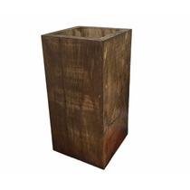 24 Vasos Cachepot Madeira Pinus Enfeite Flores Arranjo 3545