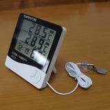 Termo-higrometro Com Sonda / Temperatura E Umidade/relogio