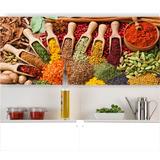 Adesivo Painel Papel Parede Cozinha Bar Temperos Pimenta M39
