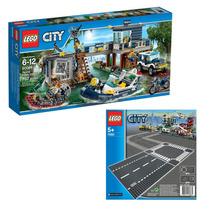Lego City 60069 Delegacia De Pol��cia Do Pântano + Pista 7280