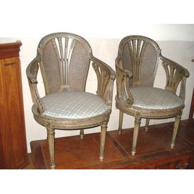 Sillones luis xvi sillones antiguos en mercado libre - Sillones estilo frances ...