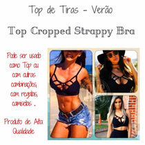 Top Croppedblusatirinha Tirasfeminina Verão Lindatop!