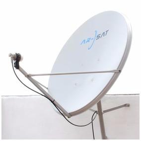 Antena Satelital 90cmcon Lnb Doble Full Hd C Cabl