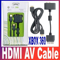 Xbox 360 Cable Av Hdmi Y Adaptador Optico Audio Rca