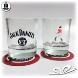 Conjunto Com 2 Copos De Whisky Jack Daniels E Johnnie Walker