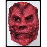 Máscara Careta De Goma Eva Halloween - Diablo / Demonio Rojo