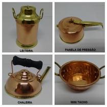 Kit Miniaturas Em Cobre / 16 Miniaturas / Frete Grátis