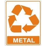Placas De Sinalizacao Tipo De Lixo Metal 15x20 Cm