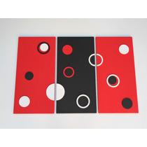 Cuadro Minimalista Moderno Con Relieve Triptico, Decoracion
