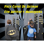 Capas Batman Antifaz, Muñequera E Imprimible Souvenir X 20