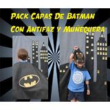 Capas Batman Antifaz, Muñequera E Imprimible X 30
