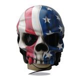 Capacete Caveira Usa - Eua - Bandeira Estados Unidos Custom