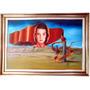 Linda Pintura Tela Quadro Surrealista 89x60cm Assinada