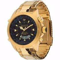 Relógio Technos Skydiver Dourado Anadigi - Super Mega Promo