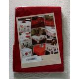 Mantel Redondo Navideño Rojo 4 Puesto Con Portavasos