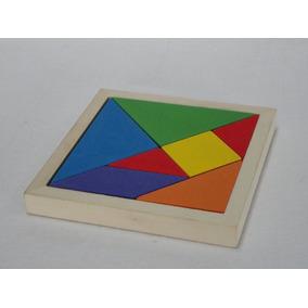 Material Didáctico Tangram Madera 17x17 Ó 15x15