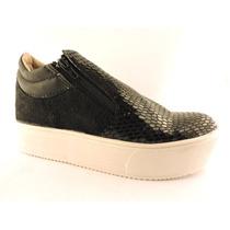 Zapatillas Plataforma Ofertaa Pancha Brillo Cierres Zapato
