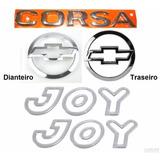 Kit Emblemas Corsa Hatch + Joy Prata - 2003 À 2007