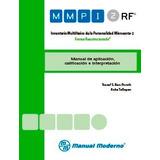 Mmpi-2-rf Inventario Multifásico Personali Minnesota-2 Cartó