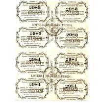 Billete De Loteria Antiguo