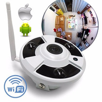Camara Ip Fisheye 360º Wifi,720p 1mpx,para Monitorear En Cel