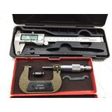 Combo Calibre Digital Antihumedad 150 Mm + Micrometro 25-50
