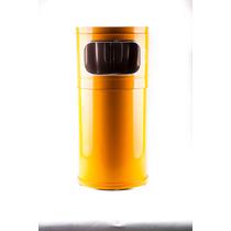 Bote De Basura De Color 20 Lts Cenicero Material Acero
