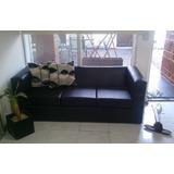 Sillones Sillon Sofa 3 Cuerpos Ecocuero Y Placa Soft