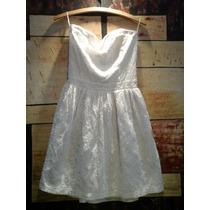 Vestido Tomara Que Caia Em Lesie Tam M, Branco Lindo !!