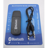 Adaptador Usb A Bluetooth Receptor Y 3,5plug Aux/auto/home X