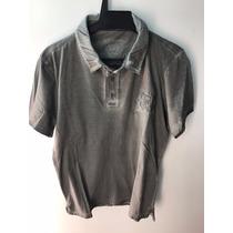 Camisa Gola Polo Ed Hardy Masculina Christian Audigier Grey