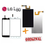 Kit Tela Touch + Display Lcd Lg L80 Tv D385 D380 + Garantia!