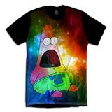 Camiseta Patrick Bob Esponja Galaxia Tumblr Desenho Infantil
