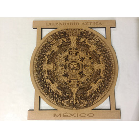 Calendario Azteca Grabado Laser Mdf