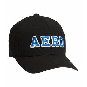 Gorra Aéropostale 03/18 Negra Bordado Aero Azul