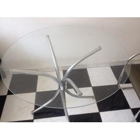 Vendo Mesa Redonda Em Vidro Cartão Com 2 Cadeiras Linda
