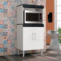 Balcão Armario Cozinha Para Microondas E Forno Elétrico Roma