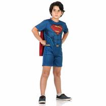 Fantasia Superman Super Homem C/capa Infantil Curta M