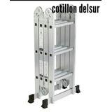 Escalera Multifuncion Aluminio Reforzada Andamio 3,70mt
